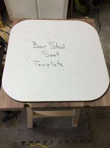 Template fit to the top of the seat