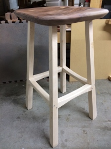The new look of the finished stool