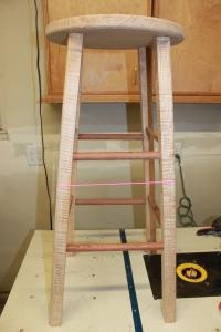 Figured Maple and Pau Ferro bar stool