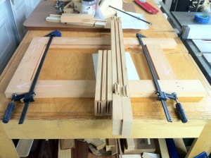 Legs and rails all milled and ready for assembly