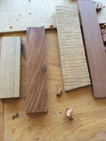 QSWO, Rosewood, Figured Maple, and Cherry.