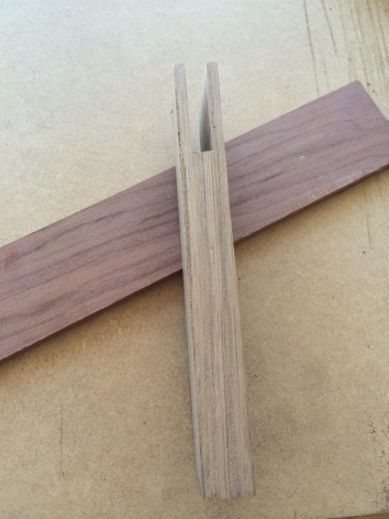 Bridle joint in stock for the blade.