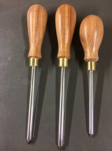 African Mahogany handles on Roberts screwdrivers.