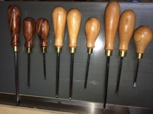 Set of 9 drivers.