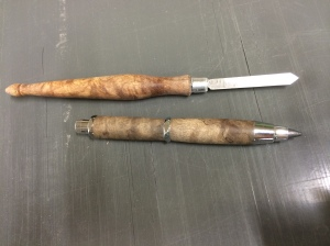 The marking knife and toolbox pencil.