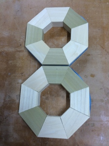 Segments cut and dry fit.
