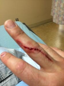 Cut after soaking.