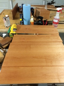 Cherry Danish Oil applied to all interior parts.