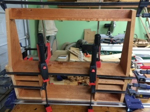 Clamp rack case all glued up.