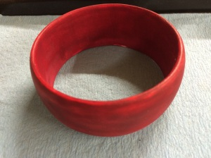 1st bangle painted with the diluted wash coat.