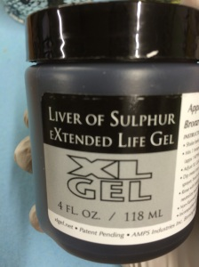 Liver of Sulphur gel.