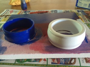3rd bangle painted white.