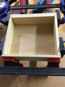 Drawer box made sans maple front.