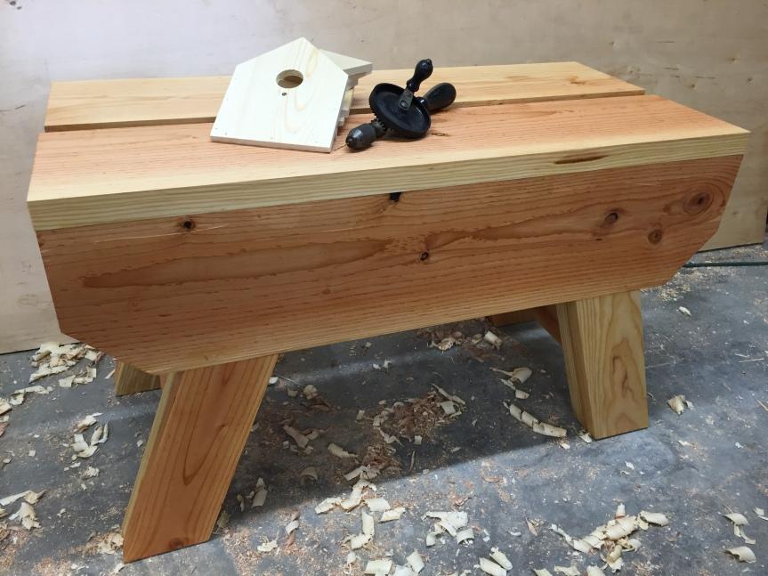 DIY Kid's Workbench with DownloadablePlan