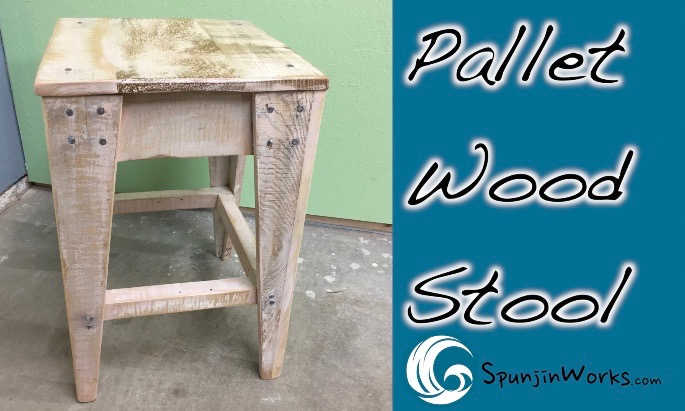 DIY Pallet Wood Stool with Downloadable Plan