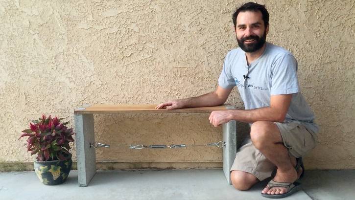Concrete Dovetail Bench